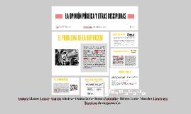 LA OPINION PUBLICA Y OTRAS DISCIPLINAS
