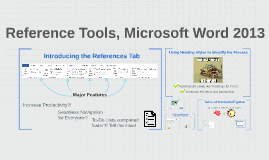 Reference Tools in Microsoft Word
