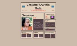 Character Analysis: Dedé