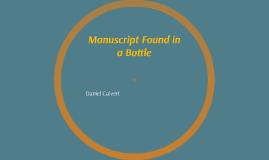 Manuscript Found in a Bottle