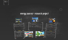 energy sources research project
