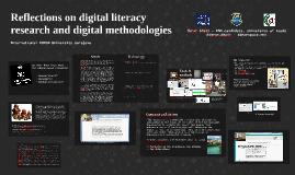 Reflections on digital literacy research and digital methodologies (BURCH International University, Sarajevo, Bosnia & Herz), 9th Oct 2014