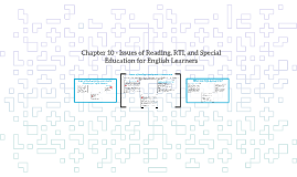 SIOP Chapter 10 - Issues of Reading, RTI, and Special Education f