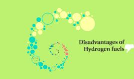 Disadvantages of Hydrogen fuels