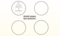 PDHPE Syllabus Quiz Questions