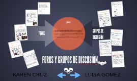 FOROS Y GRUPOS DE DISCUCIÒN