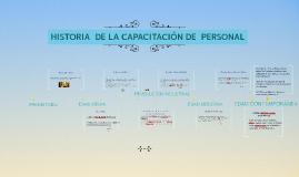 HISTORIA  DE LA CAPACITACIÓN DE  PERSONAL