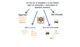 09/2017 Curso en línea para la gestión de la seguridad y la protección para defensores de derechos humanos