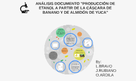 """ANÁLISIS DOCUMENTO """"PRODUCCIÓN DE ETANOL A PARTIR DE LA CÁSC"""