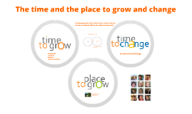 the time and the place to grow and change