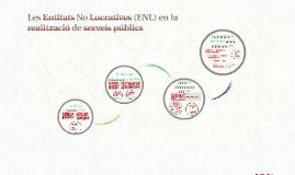 Les Entitats No Lucratives (ENL) en la prestació de serveis públics