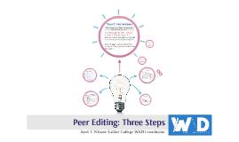ARTH 301 Peer Editing: Three Steps