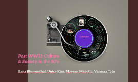 Post WWII: Culture & Society in the 50's