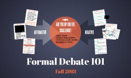 Formal Debating 101