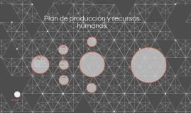 Plan de producción y recursos humanos