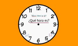La hora-El reloj