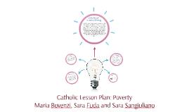 Catholic Lesson Plan: Poverty