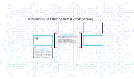 Alteration of Elimination (Constipation)