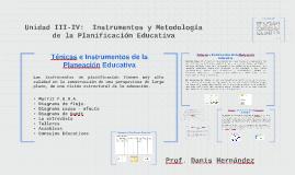 Unidad 3: Técnicas e Instrumentos