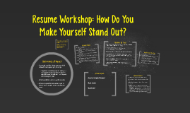 Resume Worskshop: How To Make Yourself Stand Out