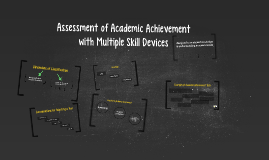 Copy of Assessment of Academic Achievement