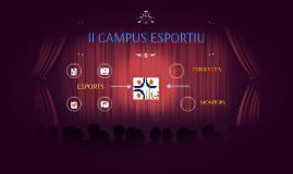 II CAMPUS ESPORTIU
