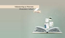 Volunteering at Peterson Elementary School