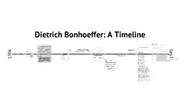 Dietrich Bonhoeffer: A Timeline