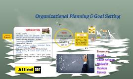 Organizational Planning & Goal Setting