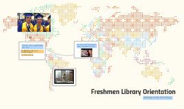 Freshmen Orientation 2015-16