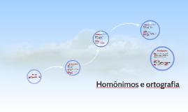 Homônimos e ortografia