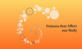 Poisons that Affect our Body