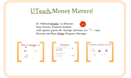 2015 UTeach Money Matters