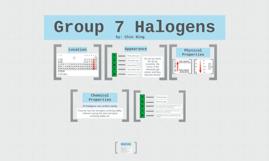 Group 7 Halogens