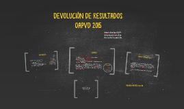 DEVOLUCIÓN DE RESULTADOS
