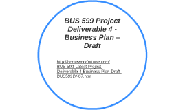 bus 599 project deliverable 6 business plan final draft by julie