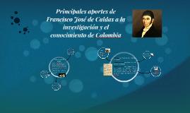 Aportes Francisco José de Caldas