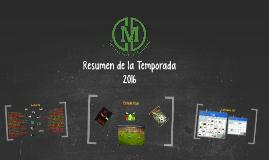 Resumen del Torneo 2016