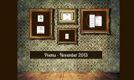 Poems - November 2013