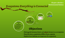 Ecosystems Everything is Connected