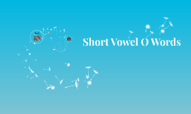 Short Vowel O Words