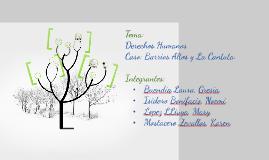 Copy of TEMA: DERECHOS HUMANOS CASO: BARRIOS ALTOS Y LA CANTUTA.