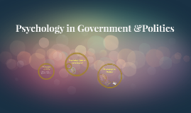 Psychology in Government &Politics
