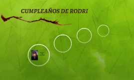 CUMPLEAÑOS DE RODRI