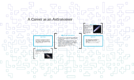 A Career as an Astronomer