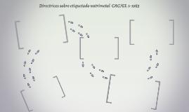 Directrices sobre etiquetado nutrimetal  CAC/GL 2-1985