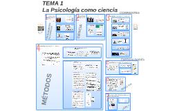 TEMA 1: La Psicología como ciencia