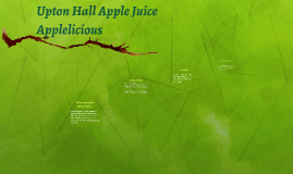 Upton Hall Apple Juice