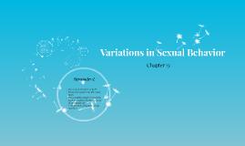 Variations in Sexual Behavior