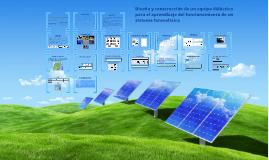 Sistema fotovoltaico didáctico